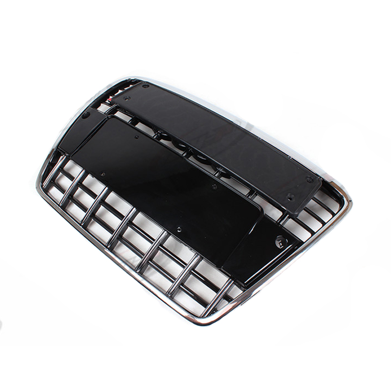 S6 Style chrome frame black Front Bumper Grill Grille car accessories for audi A6 S6 2005~2011 radiator cooling fan relay control module for audi a6 c6 s6 4f0959501g 4f0959501c