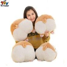 38/42cm Cute Corgi Dog Hip Arse Plush Toys Winter Hand Warm Big Fat Arse Doll Stuffed Plush Kids Toys Baby Pillow Cushion Triver недорого