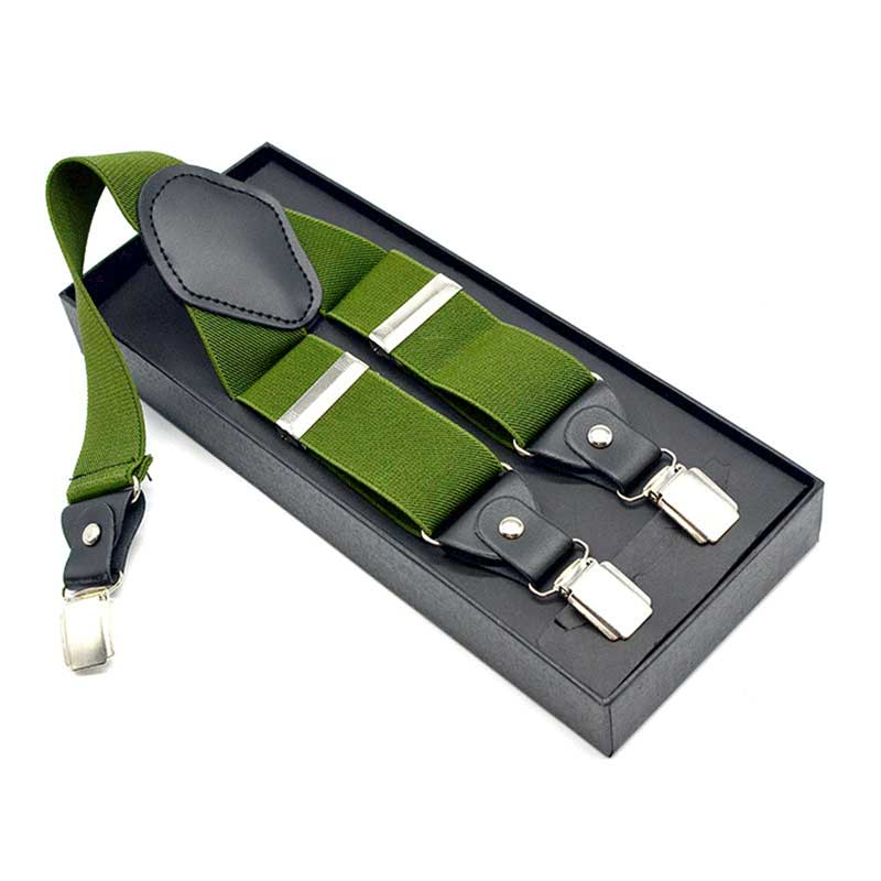 Suspenders 3 Clips 3.5 Cm Width Adult Unisex Support Customized Logo Pattern Colors Wholesale Low Price