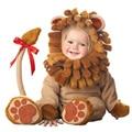De alta calidad de la fiesta de cumpleaños de halloween cosplay 6-30 meses zapatos de bebé niños niño niña traje de león mono sombrero ropa conjunto