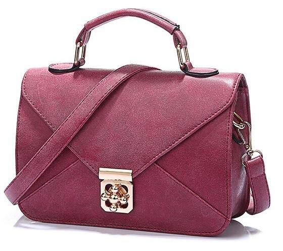 All Match Women Envelope Bags 2016 Fashion Ladies Retro Pu Leather Top Handle Bags Female Hard Lock Cover Messenger Bag B040