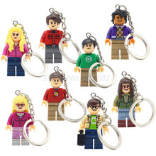 POGO THE BIG BANG Theory Figure Keychain Building Blocks TV TBBT Sheldon Cooper Amy Rajesh Elsa