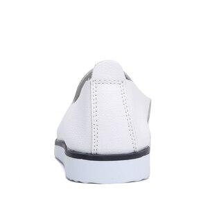 Image 3 - Hakiki Deri Kadın Yaz Bale daireler ayakkabı Bayanlar Nefes Tuval Anne Ayakkabı sneaker loaferlar moda Ayakkabı