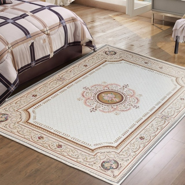 Blended Carpet, Big Size Persian Carpet , Bed Room Simple Patterncarpet,  Rectangle Ground Mat