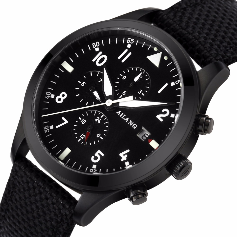 Black cloth strap 2017 high quality mechanical font b watch b font brand font b watch