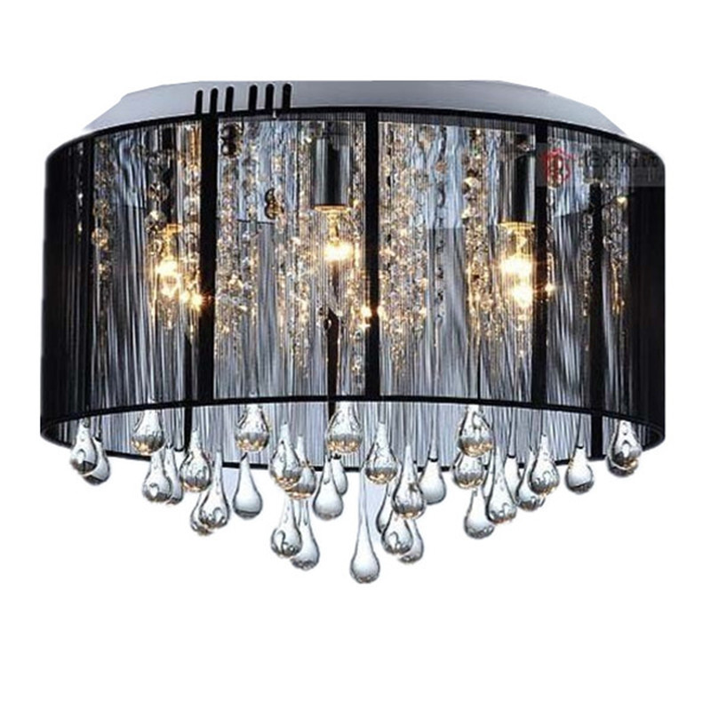 Hot promotion black white silver yellow pink red purple crystal promotion black white silver yellow pink red purple crystal ceiling light lamp to dinning room x 7 dia 40cm in ceiling lights from lights lighting on aloadofball Images