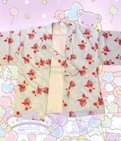 Harajuku Style Japanese Style Lolita cute goldfish Haori Short Kimono Daily Dressing Top Thin wrap summer style