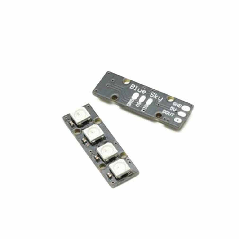 Portable Super Mini LED Strip dengan 4 WS2812B RG85050 Warna-warni LED Lampu untuk Naze32 CC3D Penerbangan Controller RC Drone