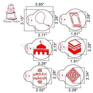 Image 2 - Eid Mubarak Stencil for Cake and Cookie Plastic Decorative Stencil Fondant Decorating Sugarcraft Tools Bakeware