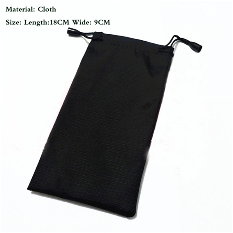 Image 2 - 100 pcs/lot 18*9cm Glasses Case Soft Waterproof Plaid Cloth Sunglasses Bag Glasses Pouch Black Color Wholesale Good Quality-in Eyewear Accessories from Apparel Accessories