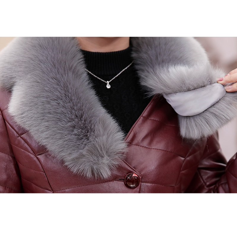 Grande breasted Single De En black Top Taille Col leather Wine Yagenz Pink Femmes Hiver Veste Court Fourrure Manteau Paragraphe Cuir Mode Coton 5xl Red Qualité brown 767 gary 60qTpXZ