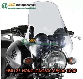 UNIVERSAL PARE-BRISE PARE-BRISE POUR 95% MOTO, POUR CB400 BWS125 150 XJR400 HONGLONG300 HONGLONG600