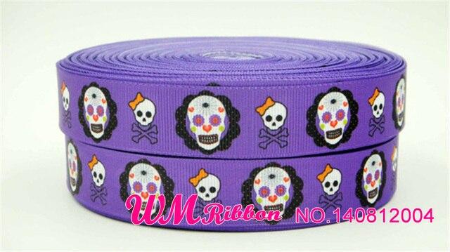 Q & N-ruban en gros-grain 7/8 pouces 22mm pour halloween chauve-souris imprimé 50yards/roll pour cheveux sport, bandeau à nœuds pour cheveux