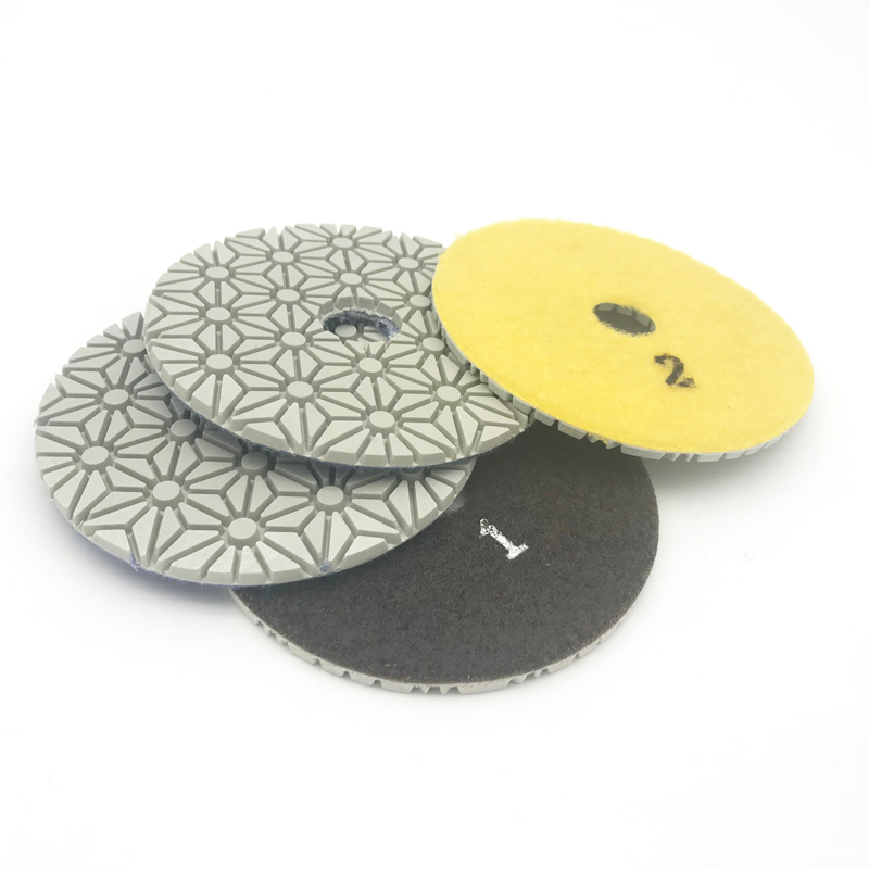 Купить с кэшбэком 4 Inch 100mm Diamond Wet/Dry Polishing Pads 3 STEP Set Quartz Granite Glass Marble Ceramic yellowstone microcrystalline