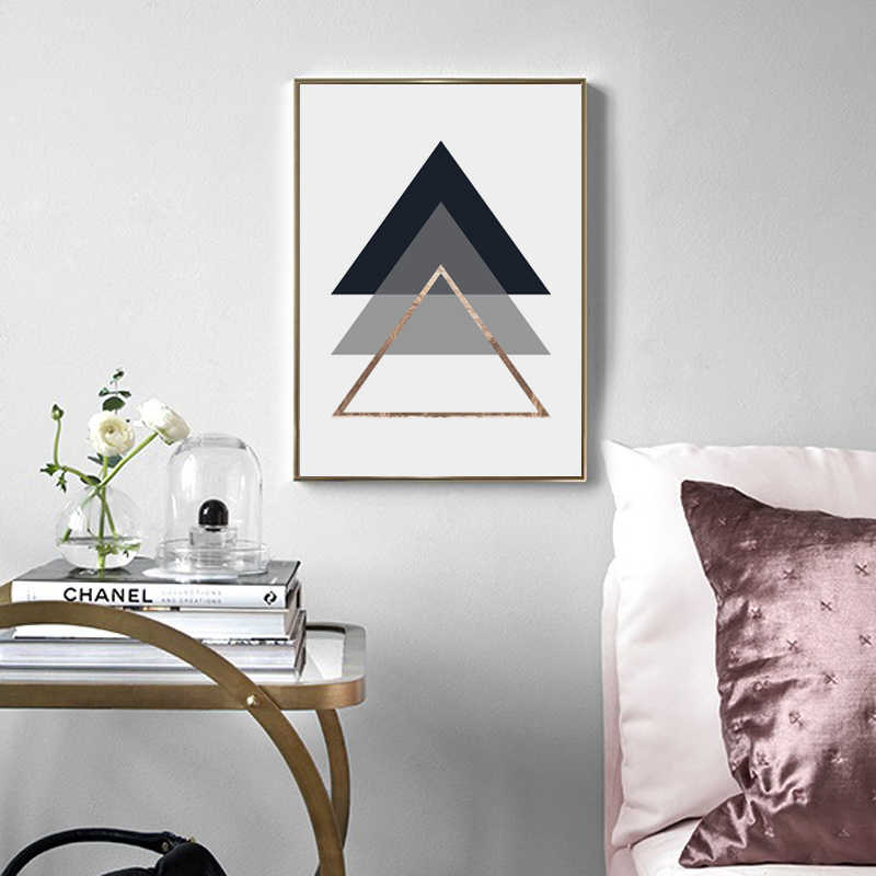 Minimalist Geometric Canvas Posters and Prints Wall art Palm Leaf Painting Picture for Living Room Home Decor