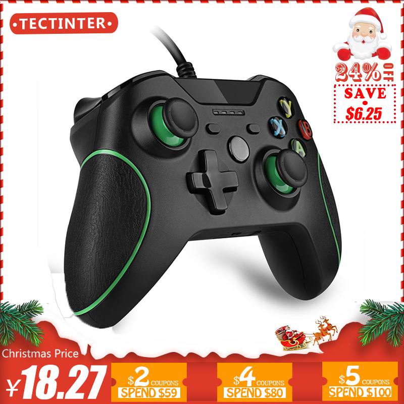 სადენიანი კონტროლერი Microsoft Xbox One Controller Gamepad Joystick USB Controle for Windows PC