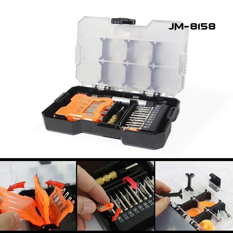 JAKEMY Multifunctional Hand Tools Set Woodworking Tools Scalpel Knife + Screwdriver Set + Drills + Tool Box Repair Tools Kit