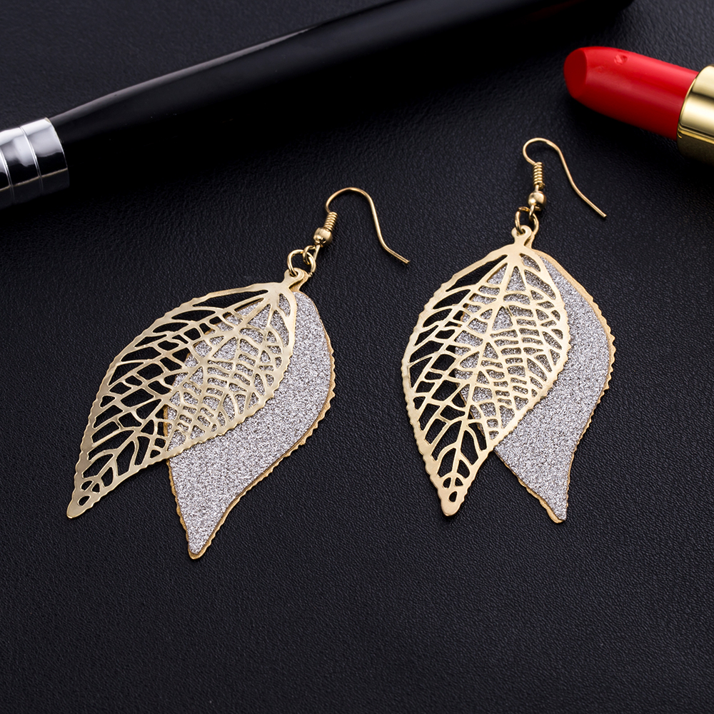 KISSWIFE personality leaves scrub earrings earrings female designer jewelry earrings scrub earrings pendants jewelry