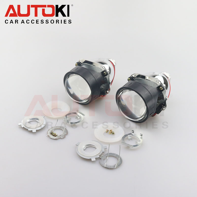 Autoki Newest Lenses 2.5'' Bi-xenon HID H1 Projector Lens LHD VER 8.1 for H1 H4 H7 Auto Lights Retrofit Car-styling Use H1 bulb free shipping bi xenon 2 5 pro hid bi xenon projector headlight lens h1 h4 h7 lhd rhd use h1 xenon bulb car styling