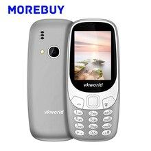 Vkworld Z3310 3D Экран 2.4 дюймов громкий Динамик старший Мобильные телефоны dual sim карты FM Радио сильный свет 2.0MP 1450 мАч 240*320