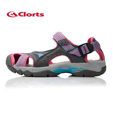 Clorts Women Hiking Sandals Shoes Woman Outdoor Beach Shoes Breathable Summer Women's Hiking Sport Sandals Breathable Sandalias