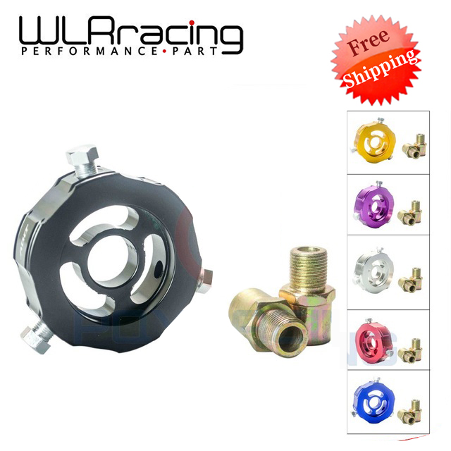 WLR RACING - FREE SHIPPING ADD Oil Block Adapter oil temp pressure sensor Turbo line Oil sandwich Adapter WLR6745