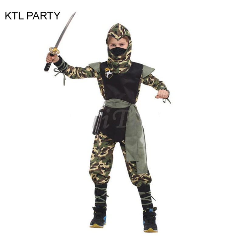 KTL PARTY camouflage Cool Ninja Costumes for Boys High Quality Christmas Halloween Party Cosplay Clothes Clothing Gifts Children-in Boys Costumes from ...  sc 1 st  AliExpress.com & KTL PARTY camouflage Cool Ninja Costumes for Boys High Quality ...