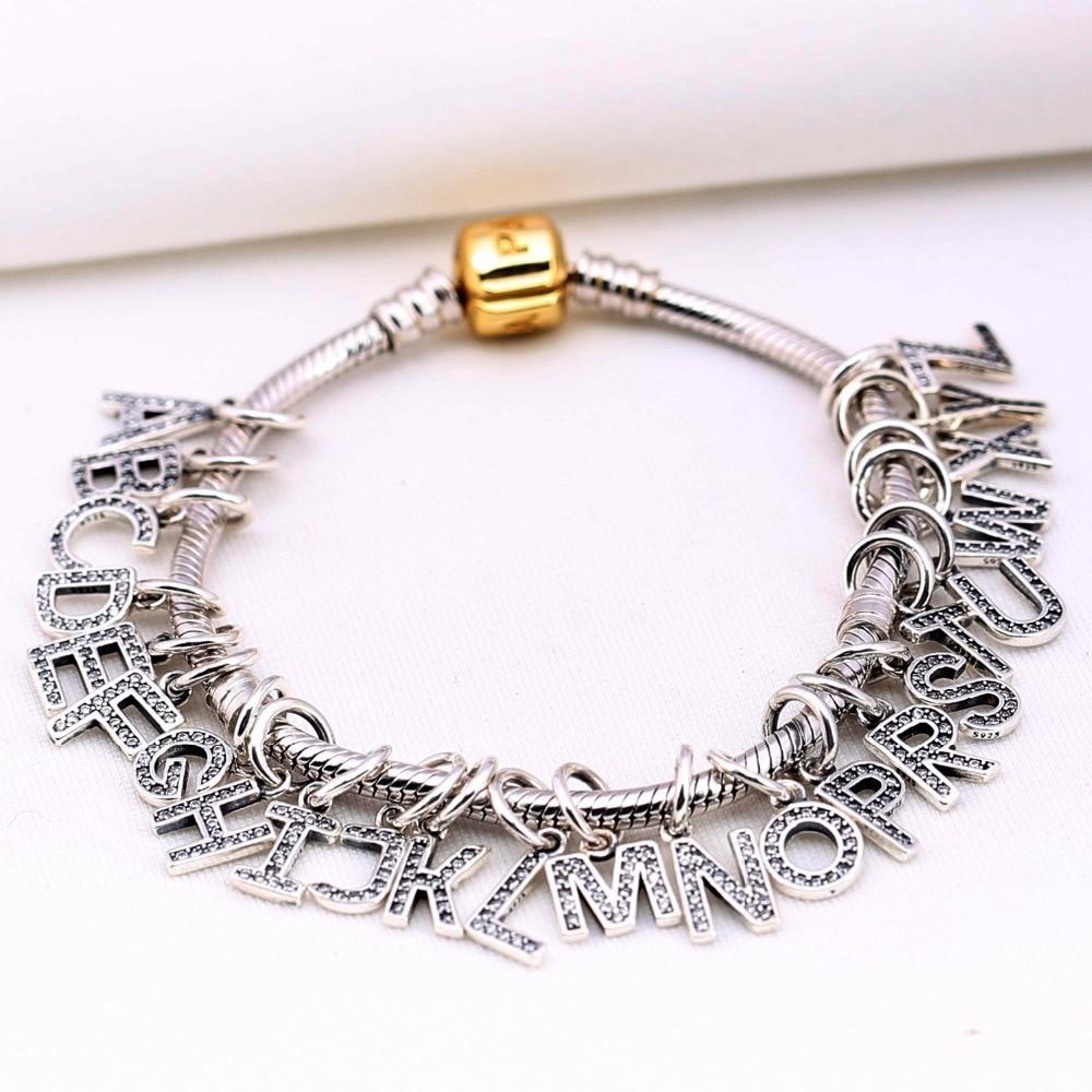 1484ee0c0 Pandora Bracelet Charms 925 Silver Charms Alphabet 5 LE15-5