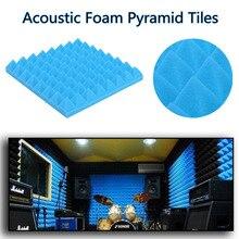 1Pcs Sound Absorbing Cotton Acoustic Foam Pyramid Tiles For Studio Sound Room Music Soundproofing Foam 20 20cm 3 5 10 mm esd anti static high density foam antistatic insertion sound absorbing noise sponge foams soundproofing foam