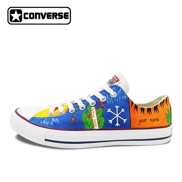 womens Skateboarding Shoes Canvas watercolor colorful painting Sport Sneaker
