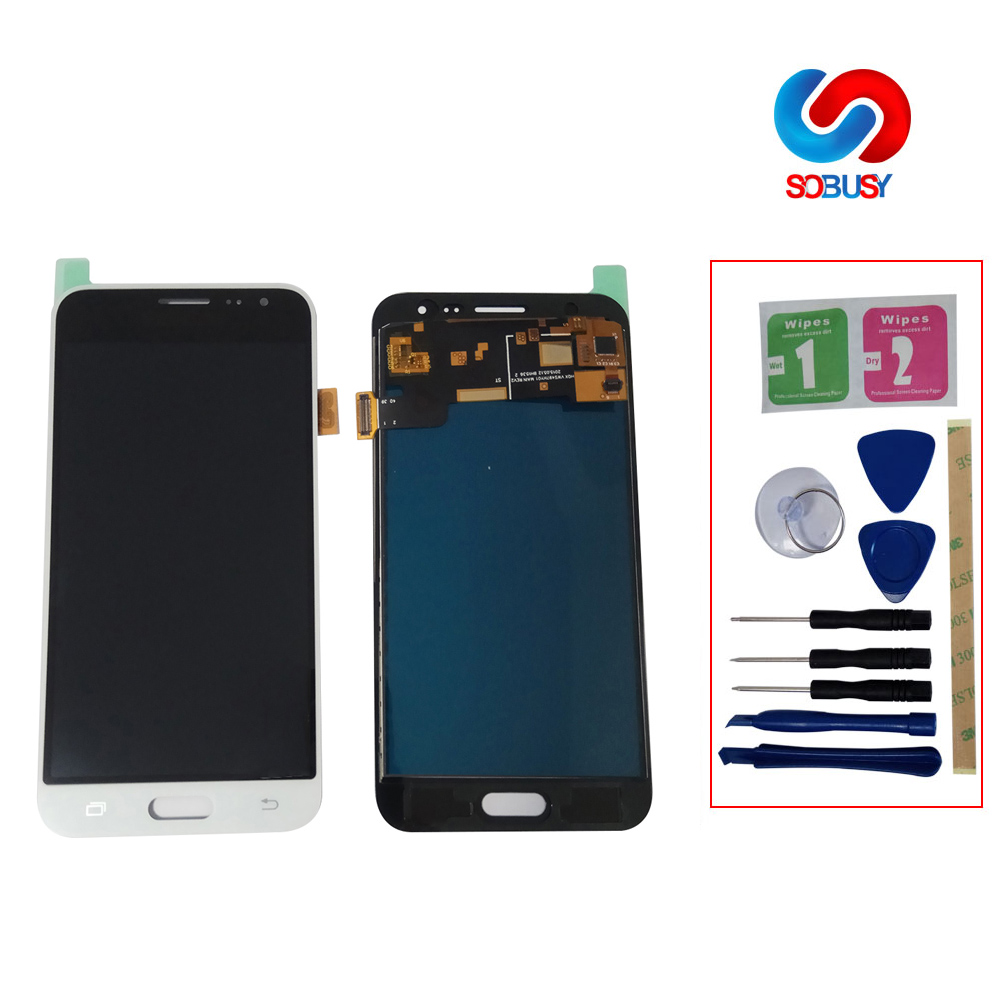 J320f Lcd  For SAMSUNG GALAXY J3 2016 J320 J320F SM-J320F LCD Display Touch Screen Digitizer Assembly  LCD Pantalla Replace Part