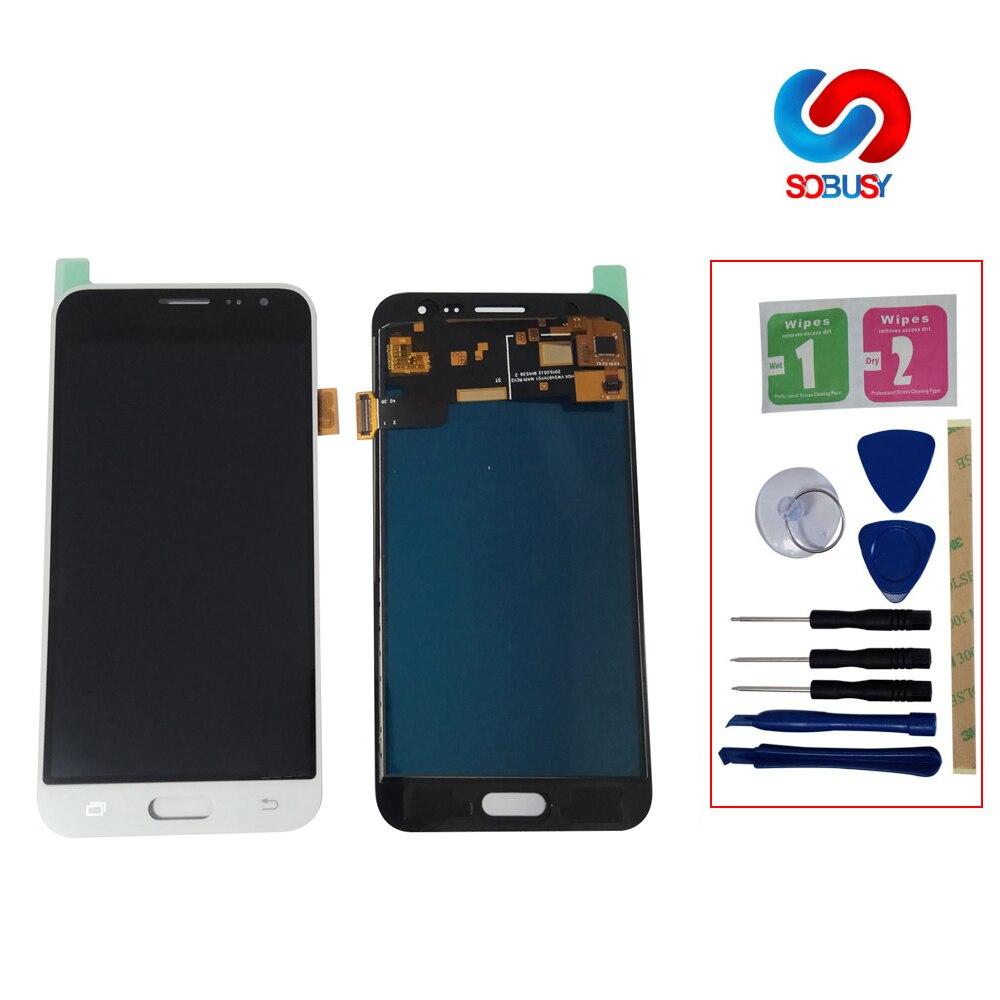 J320f lcd pour SAMSUNG GALAXY J3 2016 J320 J320F SM-J320F LCD écran tactile numériseur assemblée LCD pièce de remplacement