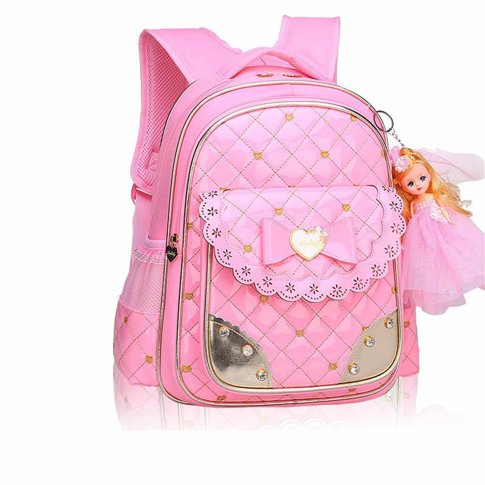 1a527729c34c Модные школьные сумки для девочек милый школьный Рюкзак Ортопедические  школьные ранцы для обувь девочек Корейский стиль