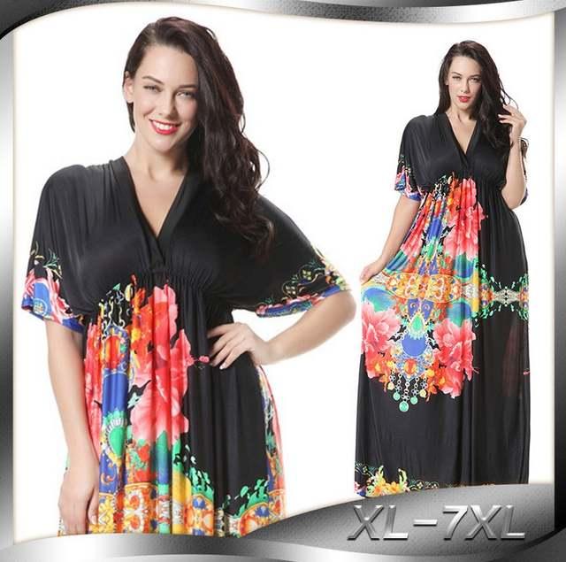 Online Shop Women Summer Autumn Dresses Big Size Hollow Out Casual Wear  Loose Floral Bohemian Dress Simple Dress Vestido Plus Size 4XL Women  2db915b15736