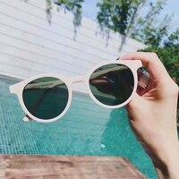 Vintage Fashion Retro Round Sunglasses Noir Cat Women Men HD Lens Gafas De Sol Original Box