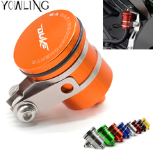 цены Universal Motorcycle Brake Fluid Reservoir Clutch Tank Oil Fluid Cup For KTM Duke 125 200 390 Duke 2013 2014 2015 2016 2017 2018