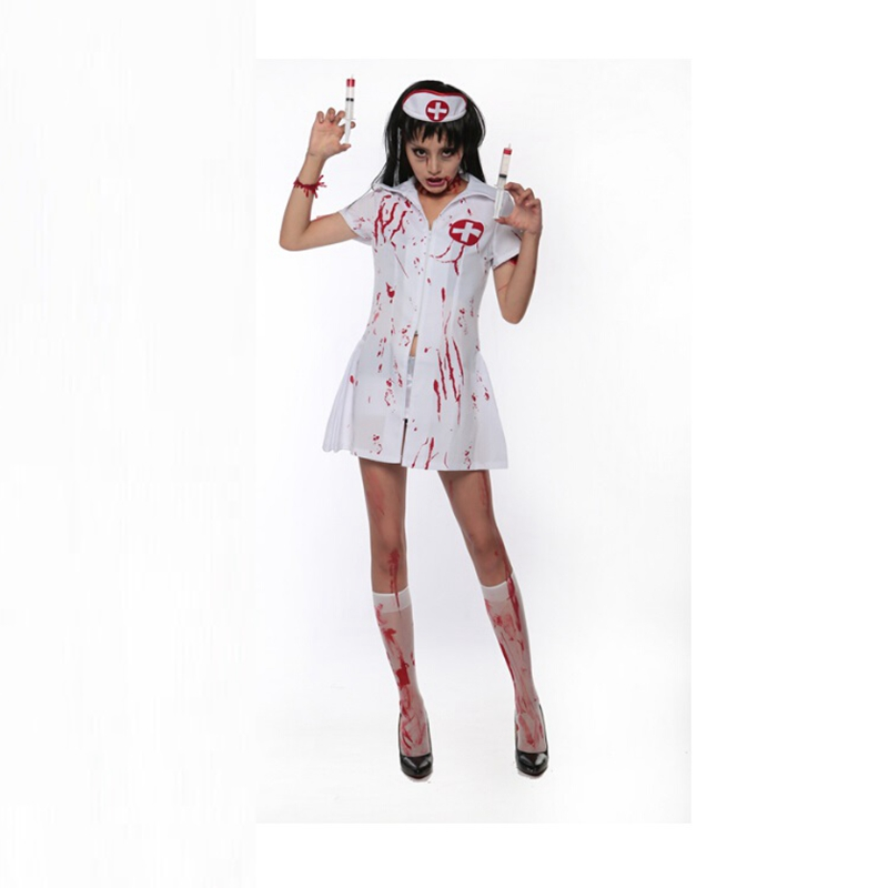 Halloween Party Zombie Costumes For Women Zombie Nurse Costumes Adult Fancy Dress Halloween Costumes For Women
