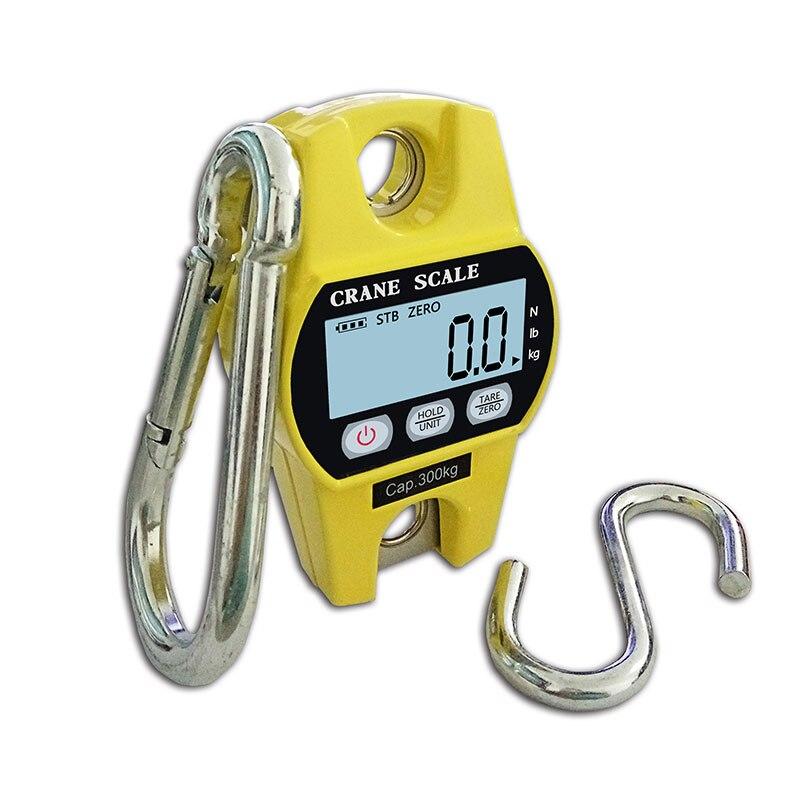 Haute qualité 300KG Mini Balance de grue numérique bagages Balance de pêche Balance de poids de poche crochet suspendu balances électroniques de grue - 3