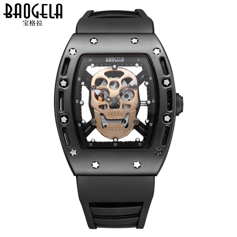 mens sports watch quartz skull silicone man wristwatches Baogela brand watches waterproof luminous male clocks new arrival curren brand men s quartz watches hot sale casual sports mens wristwatches fashion silicone straps male clocks hours