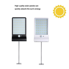 лучшая цена Aluminum pole 48/36 LED Solar Light PIR Motion Sensor solar Lamp Garden Security lights Outdoor Street path Waterproof spotlight