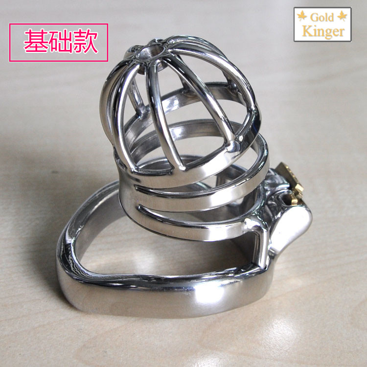 Buy cb6000s cock cages stainless steel chastity device cage cock sleeve arc cock ring male bondage penis lock sex toys man