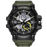 G Военная надежная защита Для мужчин часы спортивные часы светодио дный Цифровой 50 м Водонепроницаемый Повседневное часы мужской часы 759 ...