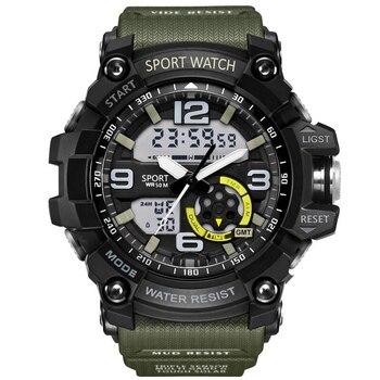 0f350208a3c G Military Shock Männer Uhren Sport Uhr LED Digital 50 mt Wasserdichte  Beiläufige Uhr Männliche Uhr 759 relogios masculino Uhr uhren