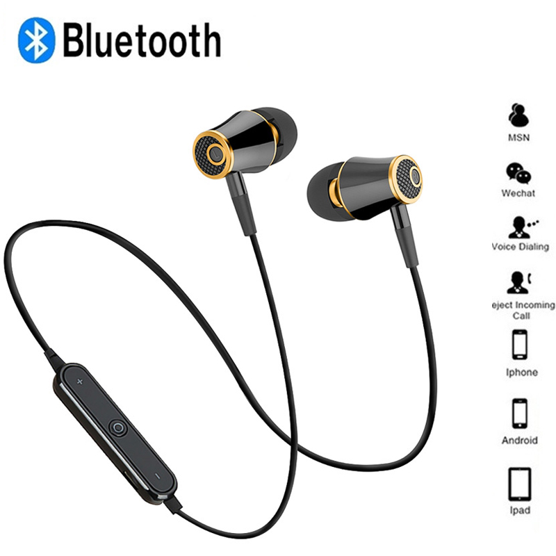 Teamyo N64 Wireless Bluetooth Headphones Super Bass Earphones Sports Headset Sweatproof Cordless Earbuds Handsfree Earpiece