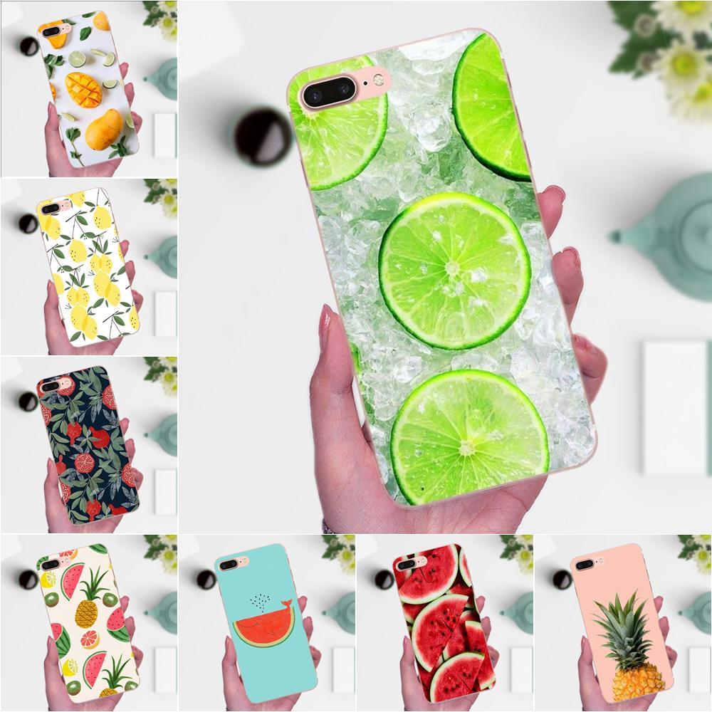 Summer Fruit Pineapple Watermelon Lemon For Apple iPhone 4 4S 5 5C 5S SE 6 6S 7 8 Plus X XS Max XR Soft Cell Phone Case Cover(China)