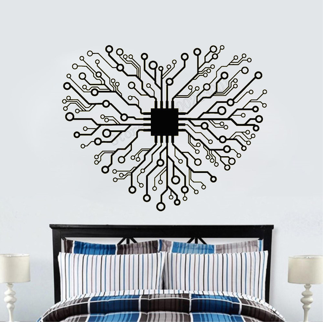 art wall sticker chip heart room decoration removeable decor