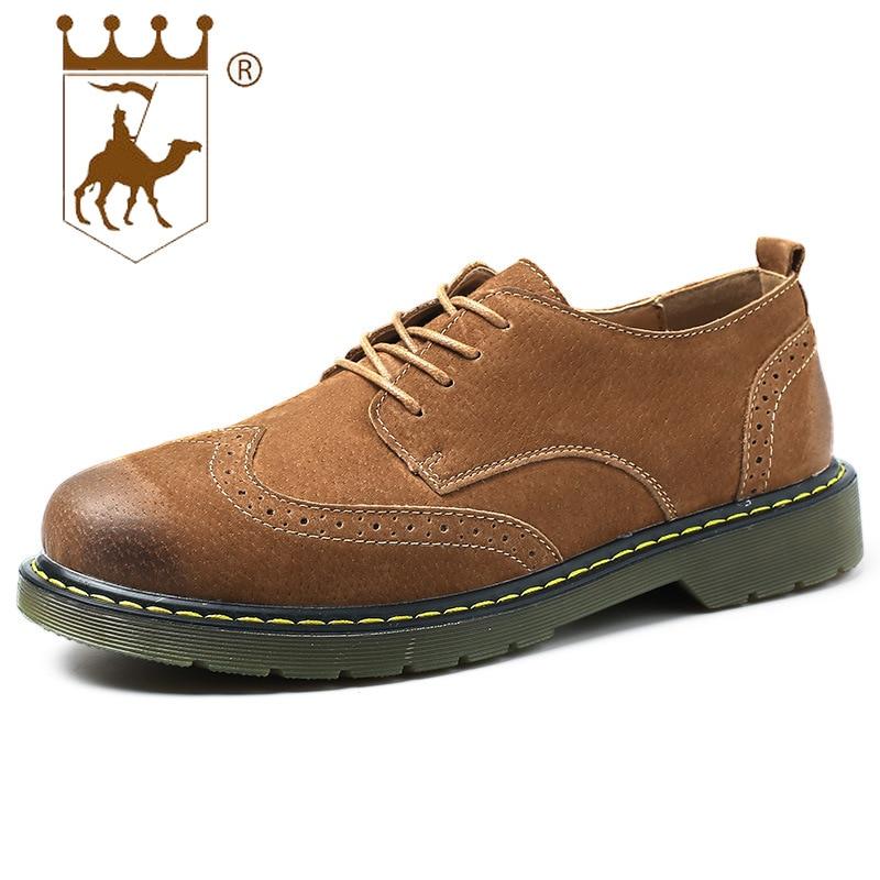 Nouveau slip army bas Robe Richelieu En Automne Green Light Marque Hommes Chaussures Coupe Britannique gray Designers Non Casual Mâle Backcamel Respirant Cuir Brown x156v1