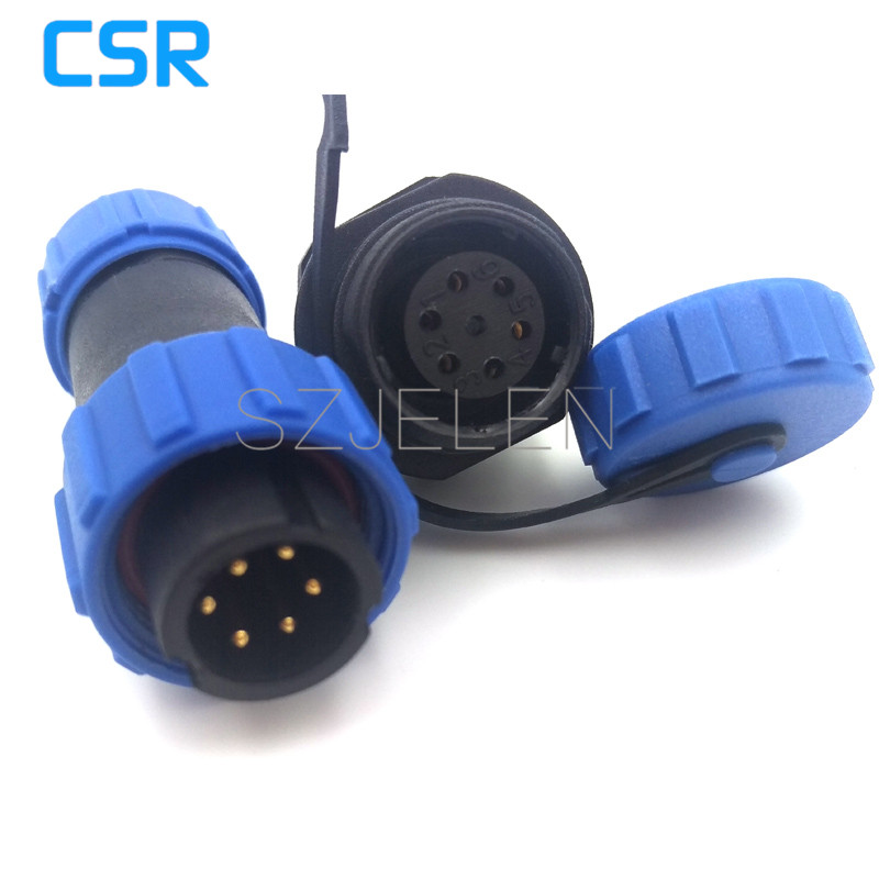 SP1310, 6 pin waterproof Dust-proof connector, plastic 6 pin connector plug socket,wire connector,LED 6 pins connectors ,IP68 sp2110 p6 s6 6 pin ip68 waterproof connector automotive sealing connector board to wire connectors 6 pin plug socket