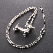 U7 Necklace Dachshund Stainless Steel Pendant