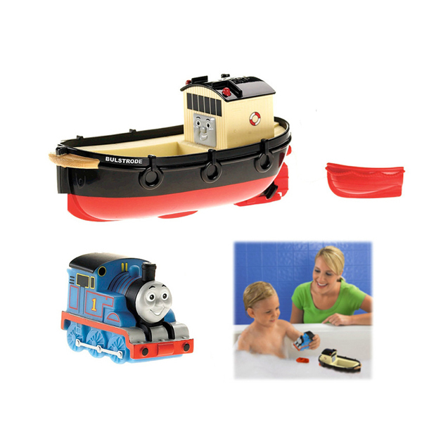 D1016 Frete grátis Thomas e seus amigos brincando na água caixas de presente do chuveiro de bebê com brinquedos de banho barco barco para as crianças
